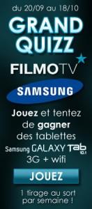 Grand Quizz Filmo TV sur Facebook – A gagner 4 tablettes Samsung Galaxy Tab