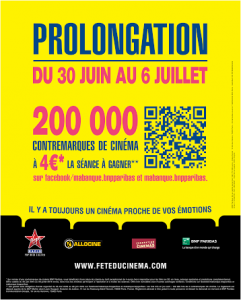 Fete du cinema prolongation