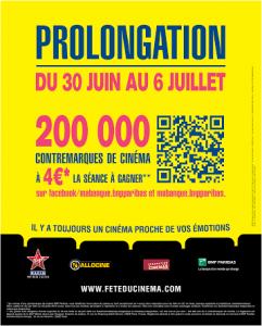 Fete du cinema prolongation