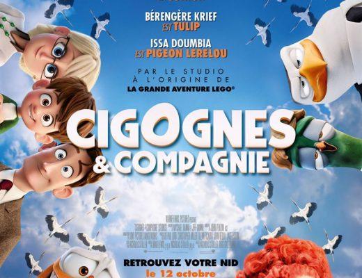 Critique du film d'animation Cigognes et Compagnie avec les voix de  Florent Peyre, Bérengère Krief, Issa Doumbia