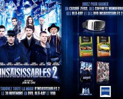 Gagnez des DVD, Blu-Ray SteelBook, un casque Zeiss et des Wonderbox avec Insaisissables 2 !