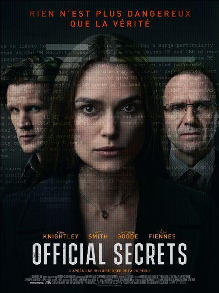 Critique e-cinema – Official Secrets de  Gavin Hood avec Keira Knightley, Matt Smith, Ralph Fiennes